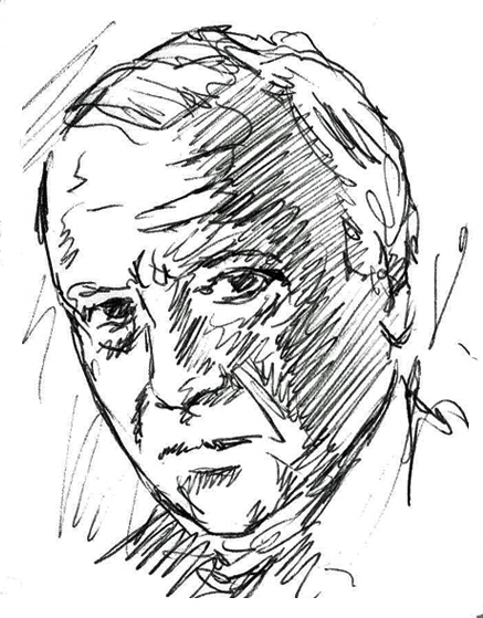 Portrait of Hans-Georg Gadamer by Mark Staff Brandl